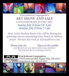 Contemporary Jewish Art By Marlene Burns At Bnai Jeshurun  In Pepper Pike, Ohio